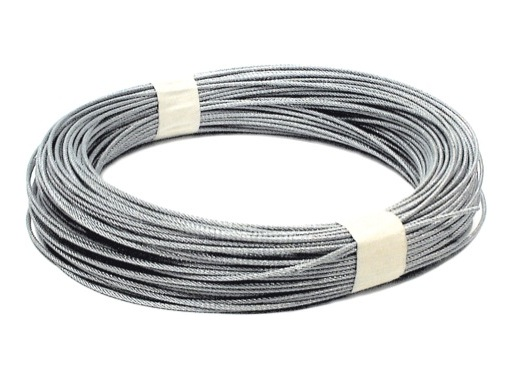 CABLE AVIATION • Ø 6 mm - 7 x 19 - rupture 2400 kg