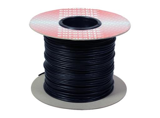 CABLE DE PATCH • Bobine 200 mètres Noir 2x0,22mm ext 3,27mm