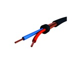 Câble micro • Bobine 100m Câble Sym noir 2x0,22mm ext Ø 6mm-cablage