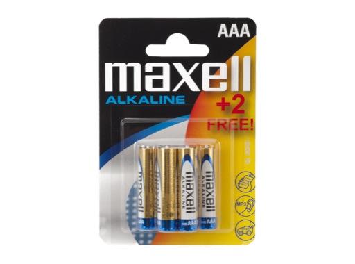 MAXELL • Piles alcalines blister de 4 piles + 2 gratuit AAA