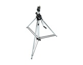 "MANFROTTO • Pied ""Wind-up"" chrome 2 sections 139-247 cm-structure-machinerie"