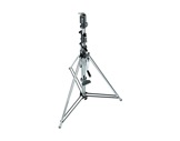 087NW : Pied de levage MANFROTTO chromé Wind-up 3 sections-structure-machinerie