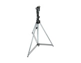 "MANFROTTO • Pied chrome ""Tall Stand"" 3 sections 146-380 cm-structure-machinerie"