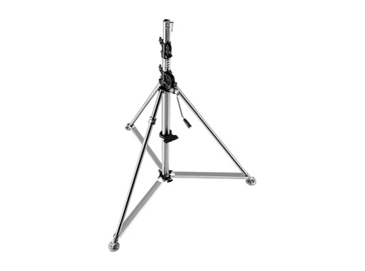 """MANFROTTO • Pied chrome """"Super Wind Up"""" 156-366 cm"""