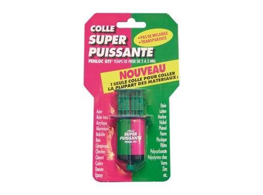GTI • Colle super puissante 240kg/cm2 seringue 12ml