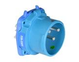 MARECHAL • DS3 Connecteur (Mâle) - IP54 - Poly bleu 1P+N+T 50A 250V-cablage