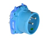 MARECHAL • DS3 Connecteur (Mâle) - IP54 - Poly bleu 1P+N+T 50A 250V-marechal