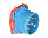 MARECHAL • DS3 Connecteur (Mâle) - IP54 - Poly bleu 3P+N+T 50A 440V-cablage