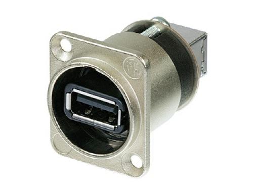 NEUTRIK • Traversée de panneau USB A/B série D nickel