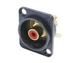 NEUTRIK • Embase RCA noire bague rouge format D-cablage
