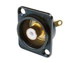 NEUTRIK • Embase RCA noire bague blanche format D-cablage