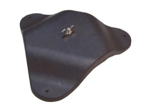 PIED DE SOL • Plastique résistant noir + boulon et papillon L 27,5cm H 4cm