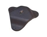 PIED DE SOL • Plastique résistant noir + boulon et papillon L 27,5cm H 4cm-pieds-de-sol