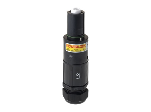 POWERLOCK 400A • Fiche drain Ph2 Noir Pg29 120° - 1000V