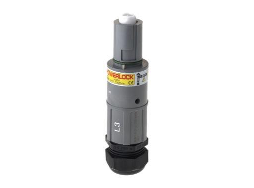 POWERLOCK 400A • Fiche drain Ph3 Gris Pg29 120° - 1000V
