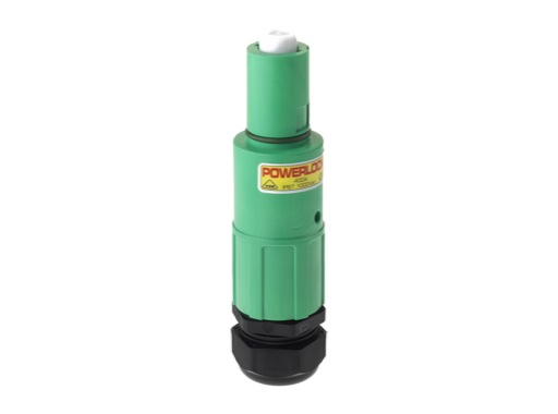 POWERLOCK 400A • Fiche drain Terre Vert Pg29 120° - 1000V