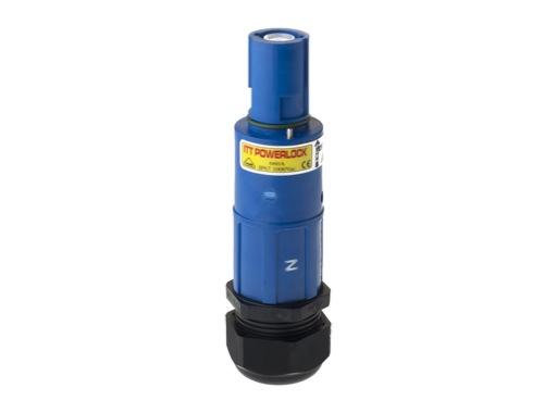 POWERLOCK 660A • Fiche drain Neutre. Bleu à sertir 240° PG36 - 1000V