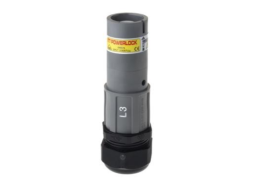 POWERLOCK 660A • Fiche Source Ph3 Gris à sertir 240° PG36 - 1000V