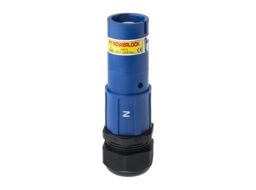 POWERLOCK 660A • Fiche Source Neutre Bleu à sertir 240° PG3 - 1000V