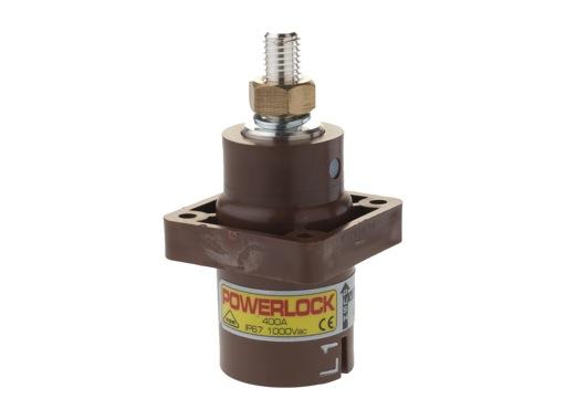 POWERLOCK 400A • Embase source Ph1 Marron M12 - 1000V