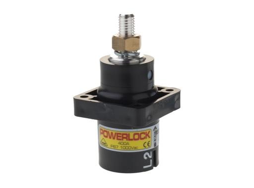 POWERLOCK 400A • Embase source Ph2 Noir M12 - 1000V