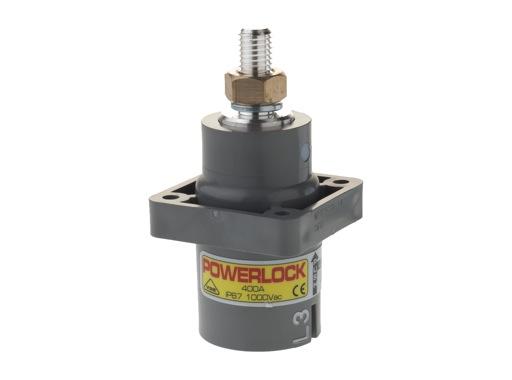 POWERLOCK 400A • Embase source Ph3 Gris M12 - 1000V