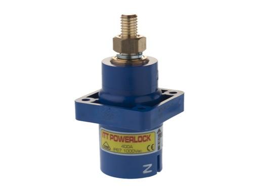 POWERLOCK 400A • Embase source Neutre Bleu M12 - 1000V