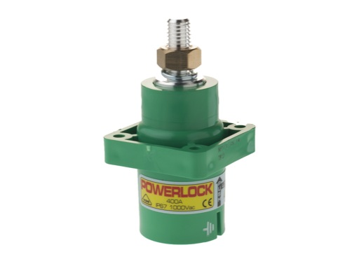 POWERLOCK 400A • Embase source Terre Vert M12 - 1000V