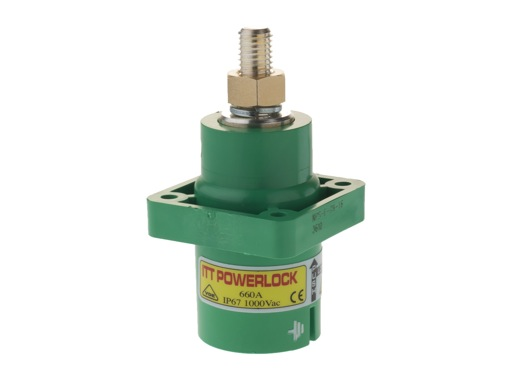 POWERLOCK 660A • Embase Source Terre Vert M12 - 1000V