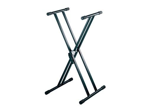 PIED • STAND noir forme X 0,60 à 1,00m charge 40kg