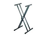 PIED • STAND noir forme X 0,60 à 1,00m charge 40kg-audio