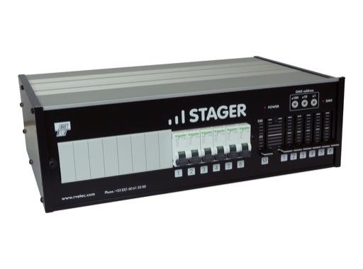 RVE • Gradateur Stager 610D 6X10A 0/10V & DMX512