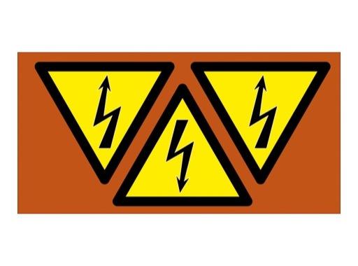 SES • Carte de 3 étiquettes 80mm DANGER ELECTRIQUE