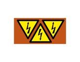 SES • Carte de 3 étiquettes 80mm DANGER ELECTRIQUE-attaches