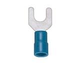 SES • Cosses à fourche bleu Ø 4,3 câble 1 à 2,5mm2 (les100)-attaches