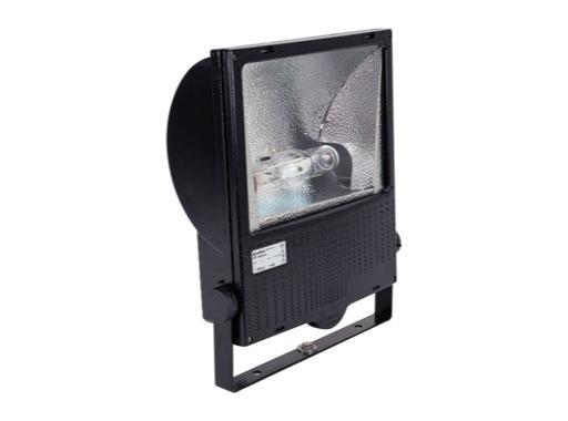 SET150 • Projecteur iodure 150W asymétrique noir + lampe