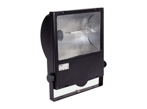 SET150 • Projecteur iodure 150W symétrique noir + lampe