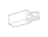 SLI • Alimentation enfichable blanche pour rail Lytespan 3 L3-eclairage-archi--museo-