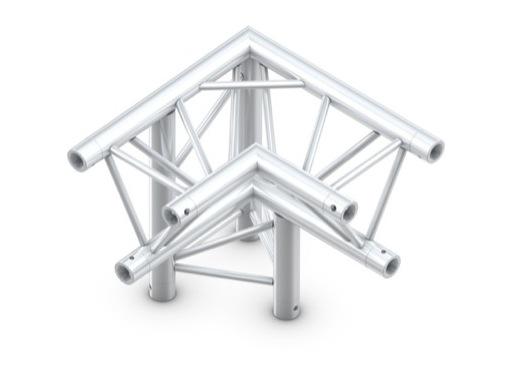 QUICKTRUSS • Trio M290 Angle 90° 3 directions gauche pointe en bas + kit