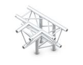 QUICKTRUSS • Trio M290 Té 4 directions horizontal pointe en bas + kit-structure-machinerie