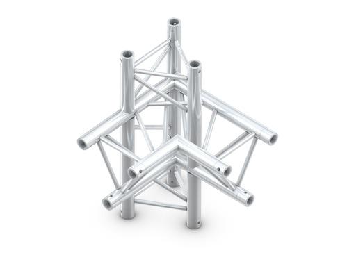 Structure trio angle 90° 4 directions vertical droit - M290 QUICKTRUSS