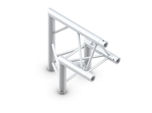 QUICKTRUSS • Trio M222 Angle 90° pointe en haut + kit de jonction