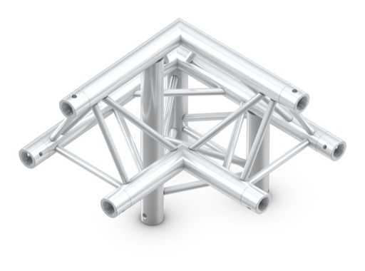 QUICKTRUSS • Trio M222 Angle 90° 3 directions droit pointe en haut + kit