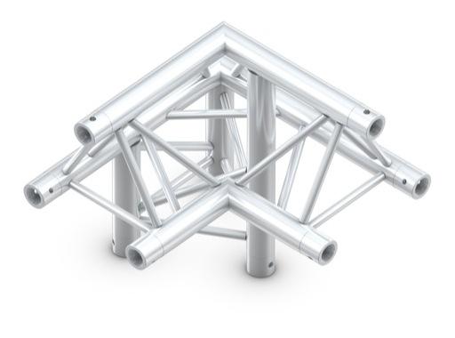 Structure trio angle 90° 3 directions gauche pointe en haut - M222 QUICKTRUSS