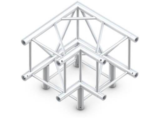 QUICKTRUSS • Quatro M390 Angle 90° 3 directions + kit de jonction