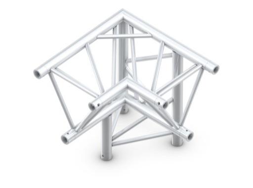 QUICKTRUSS • Trio M390 Angle 90° 3 directions droit pointe en bas + kit