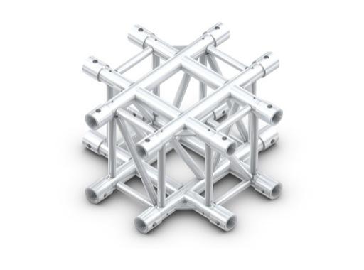 QUICKTRUSS • Rect M400 croix 4 directions + kit de jonction