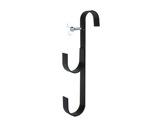Crochet noir • pour pont Ø50mm 2 passages de câbles Lg355 mm