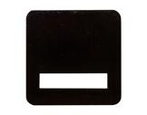 Contre plaque amovible noire • pour crochet Ø 50mm T050B-crochets