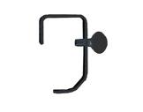 Crochet noir • pour tube Ø 50mm (ex PAR16) charge max 2kg-crochets